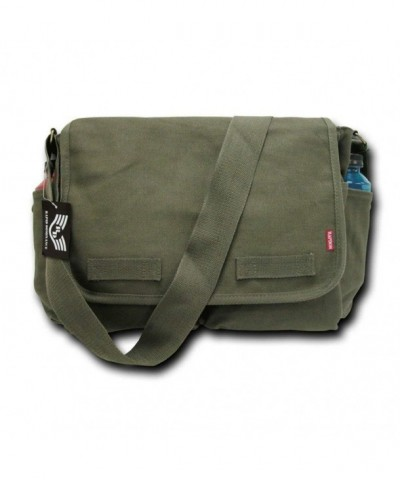 Classic Military Messenger Cotton Canvas