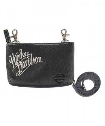 Harley Davidson Womens Embroidered Script ZWL3887 CRMBLK