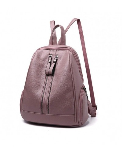 Womens Leather Backpack Rucksack Bookbag