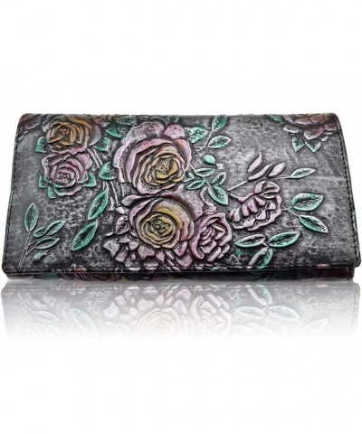 Womens Blocking Genuine Leather Wallet