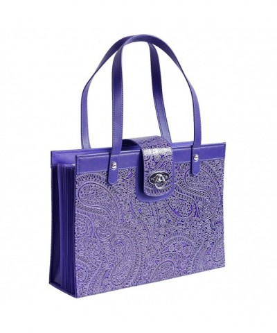 Fashion Embossed Paisley Organizer Leather