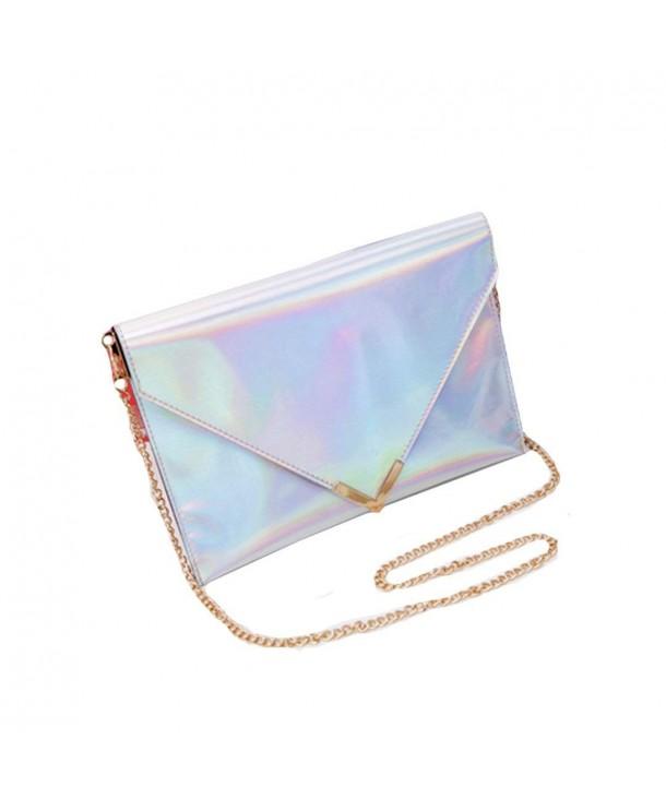 Mily Holographic Leather Envelope Handbag