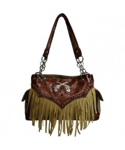 Western Style Double Handbag Purse