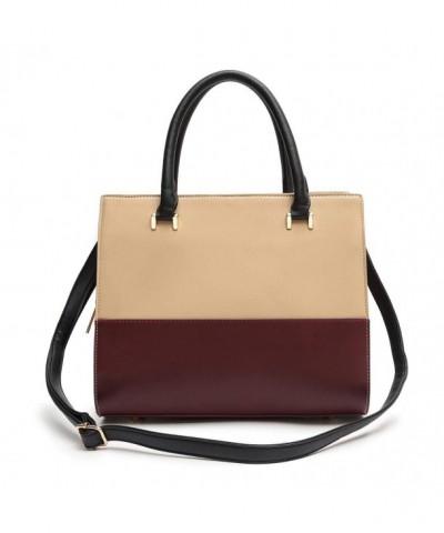 Multi Tone Squared Satchel Handbag