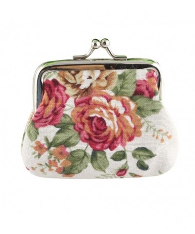 Sannysis Vintage Flower Wallet Clutch