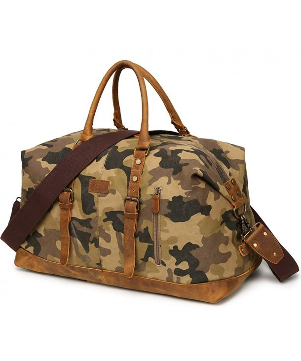 Mens Canvas Duffle Bag Travel Overnight Weekender Oversized Weekend Carryon Duffel Camo C418k6940gy