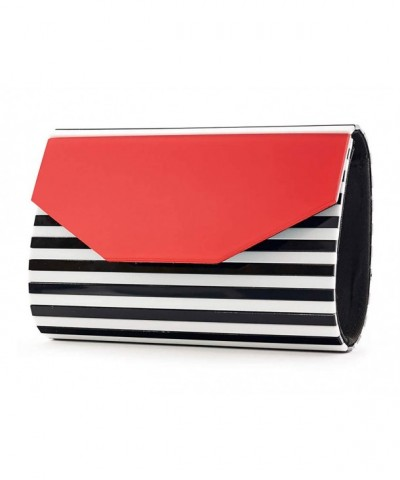 BG 713 STRIPE 060942 Box Clutch Black Stripe