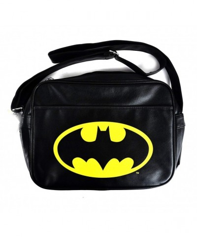 Black Batman Logo Messenger Bag