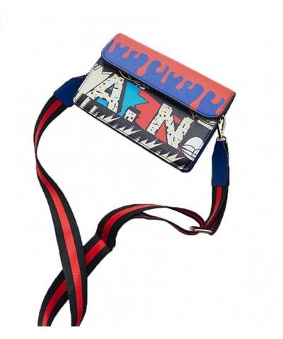 Leather Shoulder Handbag Graffiti Crossbody