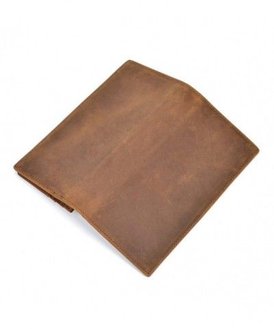 Genuine Leather Wallet Vintage Checkbook