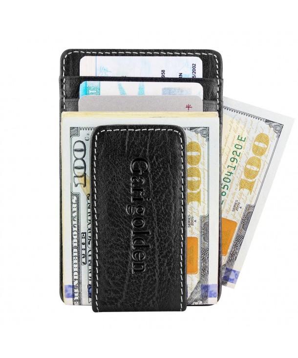 Garigolden Money Leather Blocking Wallet x