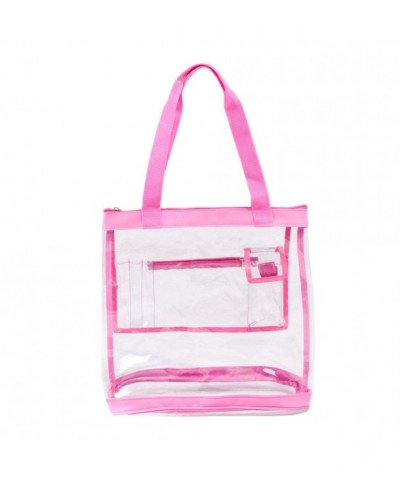 Clear Bag Zipper Closure Pockets