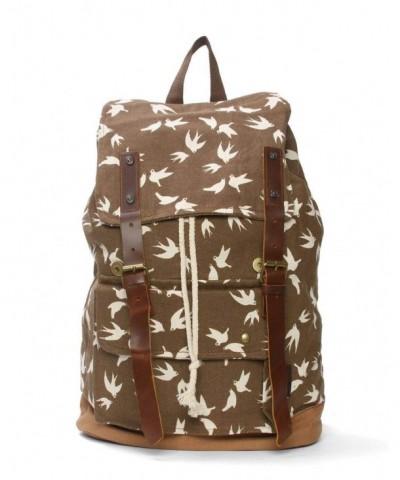 Canvas Flying Birds Rucksack Backpack