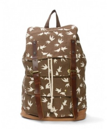 Canvas Flying Birds Rucksack Backpack