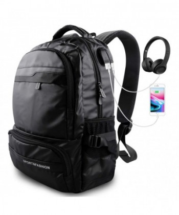 Backpack Waterproof Backpacks Headphones 15 6 inch