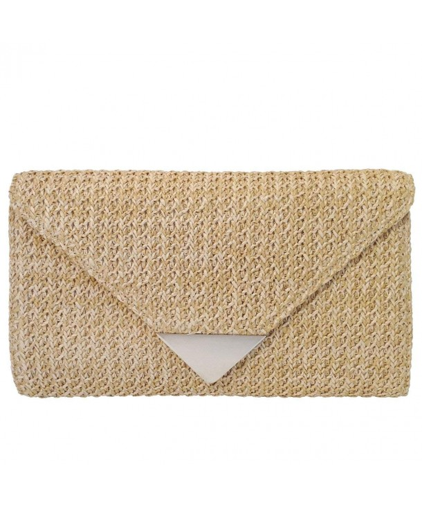 JNB Natural Straw Clutch Natrual