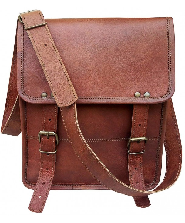 Leather Crossbody Messenger Business Briefcase