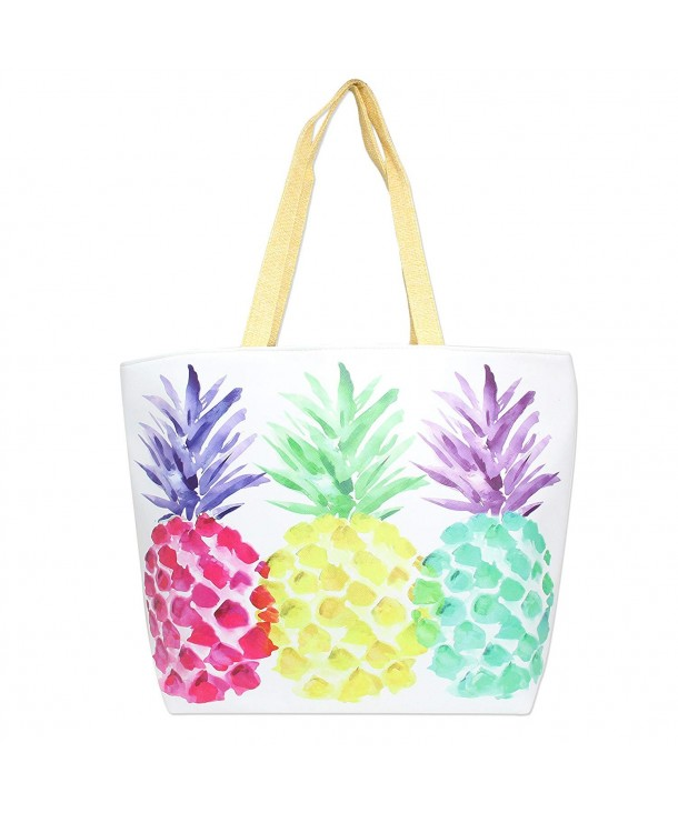 Colorful Summer Printed Zipper Pineapple