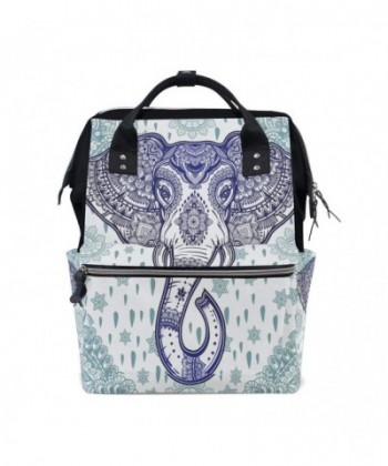 WOZO Bohemian Elephant Multi function Backpack