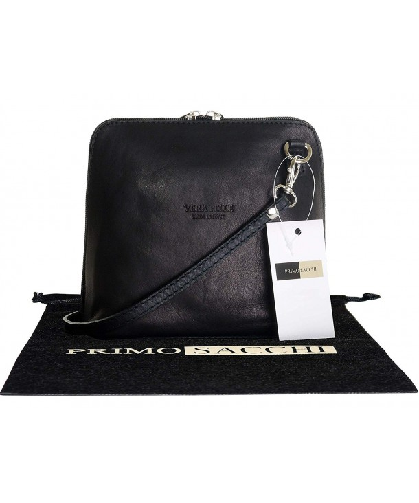 1fbc2d2b31770 ... Hand Made Small/Micro Cross Body Bag or Shoulder Bag Handbag - Black -  CE11WD6X1CZ. Primo Sacchi Italian Leather Shoulder