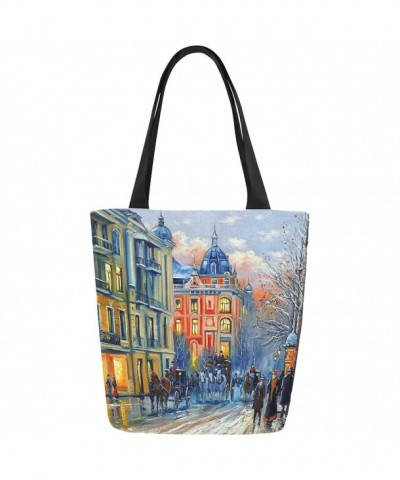 InterestPrint Painting Canvas Shoulder Handbag