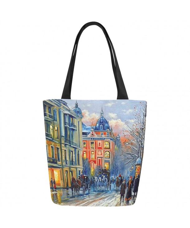 InterestPrint Painting Canvas Shoulder Handbag