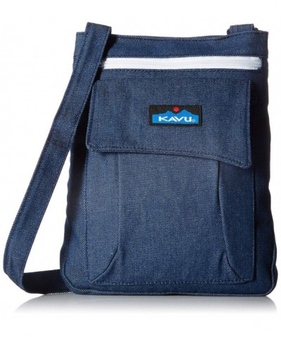 KAVU Keeper Backpack Denim Size