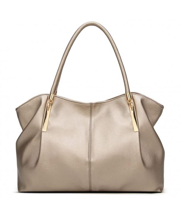 77c7948a4710 PU Leather Ladies Satchel Tote Bag Shoulder Bags Handbags for Women - Style  1:gold - CV188NQH6WQ