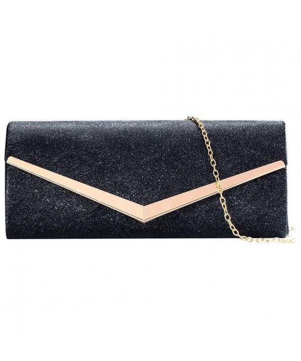 Envelope Evening Clutches Handbags Detachable
