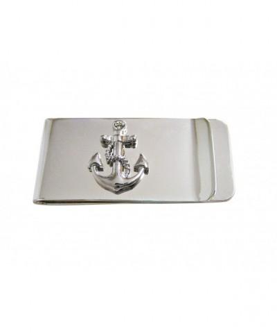 Detailed Nautical Anchor Money Clip
