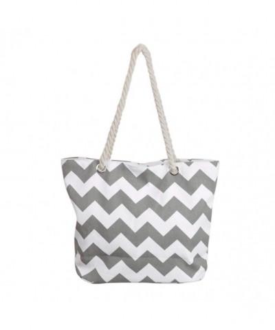 Premium Chevron Canvas Shoulder Handbag