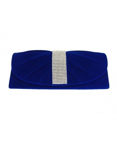 Velvet Rhinestones Clutch Evening Shoulder