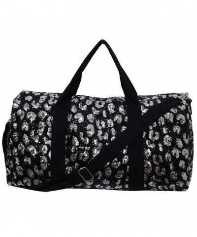 Leopard Cheetah Pattern Sequined Duffle