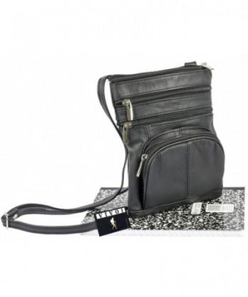 Vivoi Multi Pocket Genuine Leather Crossbody