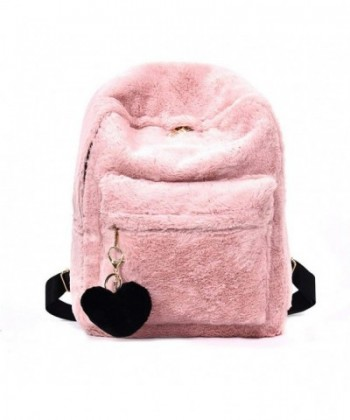 YSMYWM Backpack Shoulder Fluffy Pendant