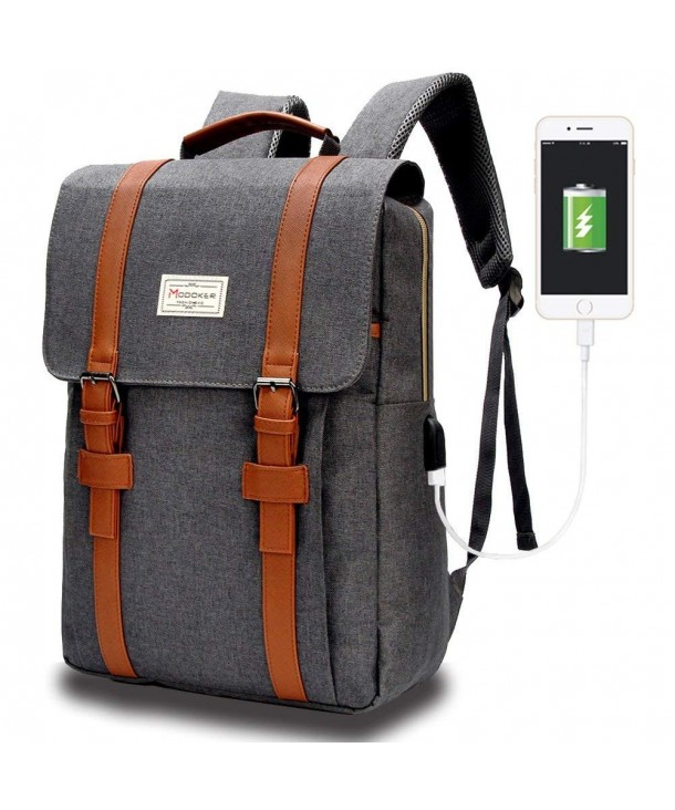 Backpack Modoker Vintage Charging Rucksack