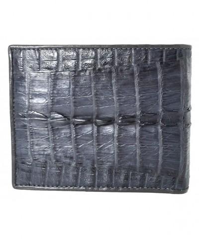 Authentic Crocodile Skin Bifold Leather