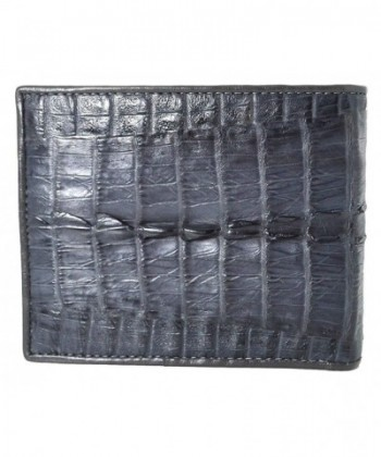 Authentic Crocodile Skin Bifold Leather