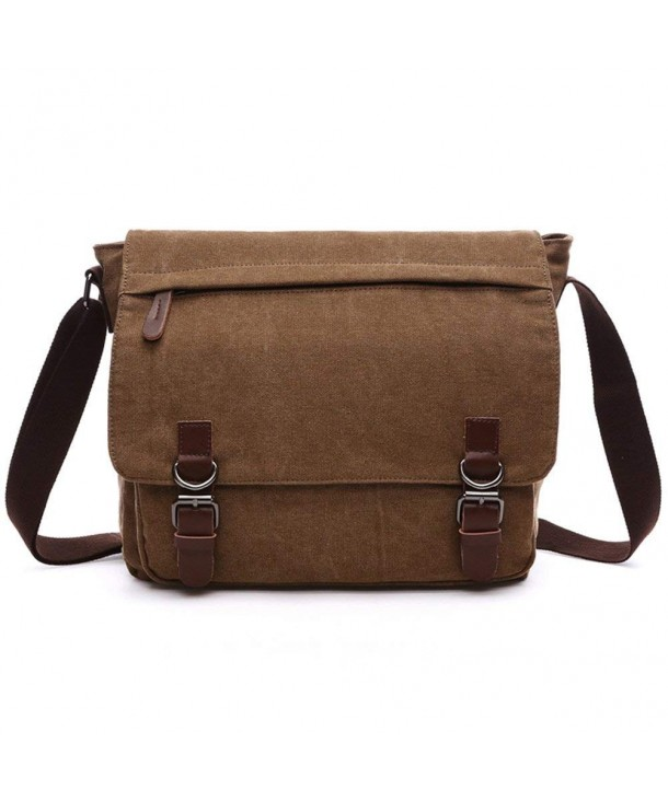 Vintage Canvas Messenger Bag School Business Shoulder Bag for 13.3 ... 7b0ece40e857b