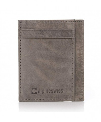 Alpine Swiss Front Pocket Wallet