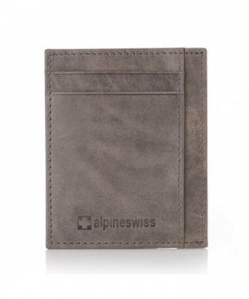 Alpine Swiss Front Pocket Wallet