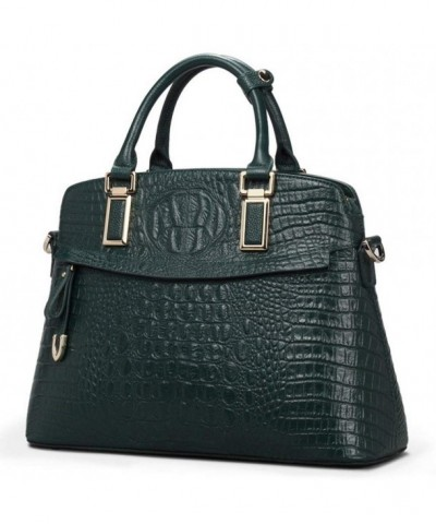 Genuine Top Handle Embossed Crocodile Handbags