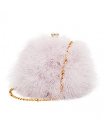 Mogor Womens Feather Shoulder Pinkpurple