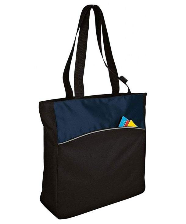 Improved Two Tone Colorblock Tote_Blueprint Black_One