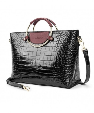 Utotebag Crocodile Embossed Handbags Shoudler