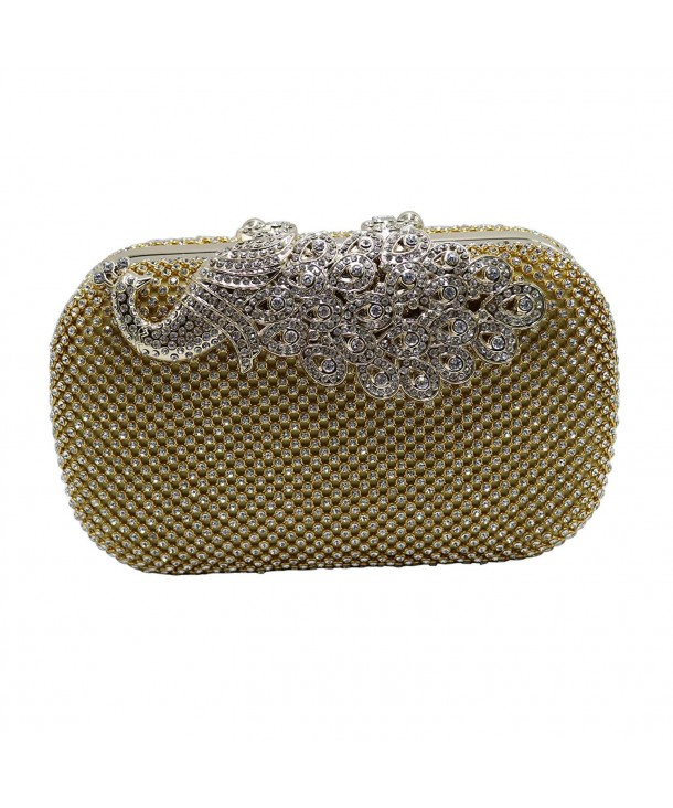 7dc17d89409 Womens Peacock Crystal Clutches and Evening Bags for Partys Cocktail ...