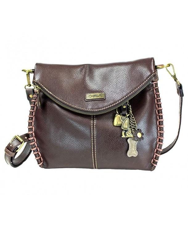 Charming Crossbody Chala Leather Brown Metal