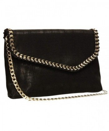 Stella Envelope Metallic Clutch Bag