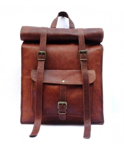 Leather Vintage Laptop Backpack Rucksack