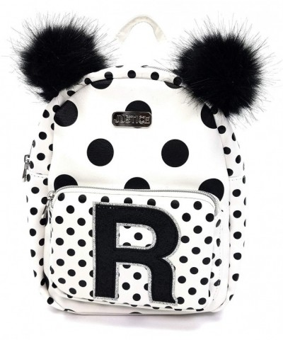 Justice Girls Backpack Initial Polka
